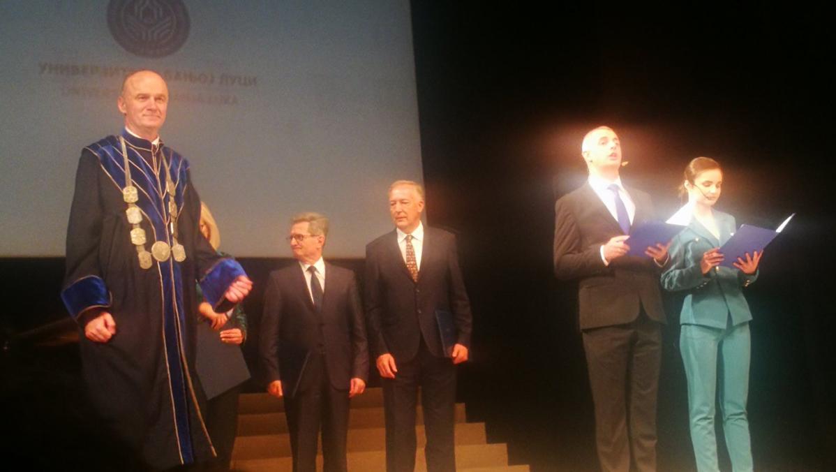 Проф. др Никола Мојовић добитник Плакете Универзитета у Бањој Луци